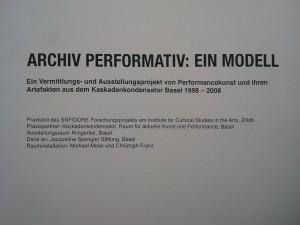 Archiv Performativ: Ein Modell