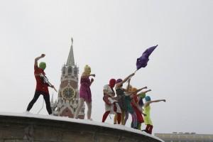Pussy Riot, 12.1.2012, Roter Platz Moskau